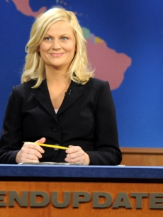 Amy Poehler At The Anchor Desk